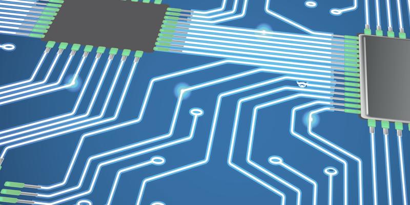 Plan de circuit imprimé clair
