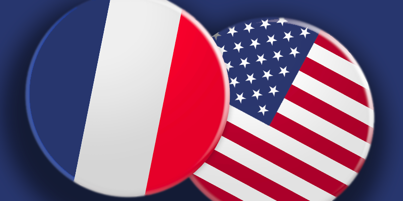 Badge des USA et de la France