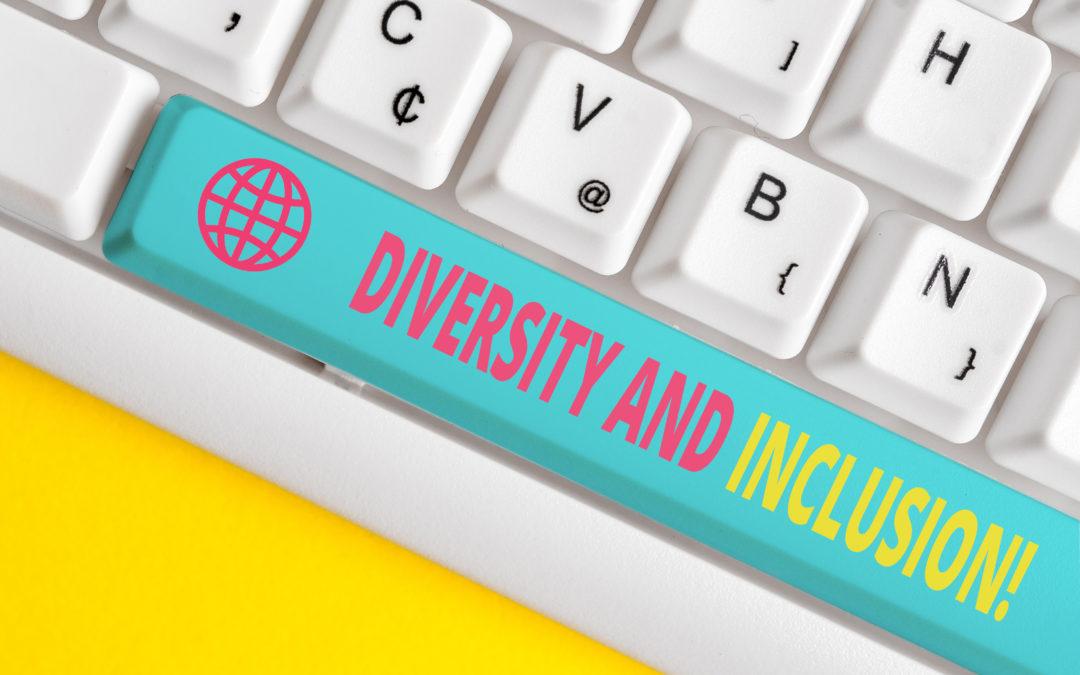 Clavier avec touche espace 'Diversity and inclusion!'