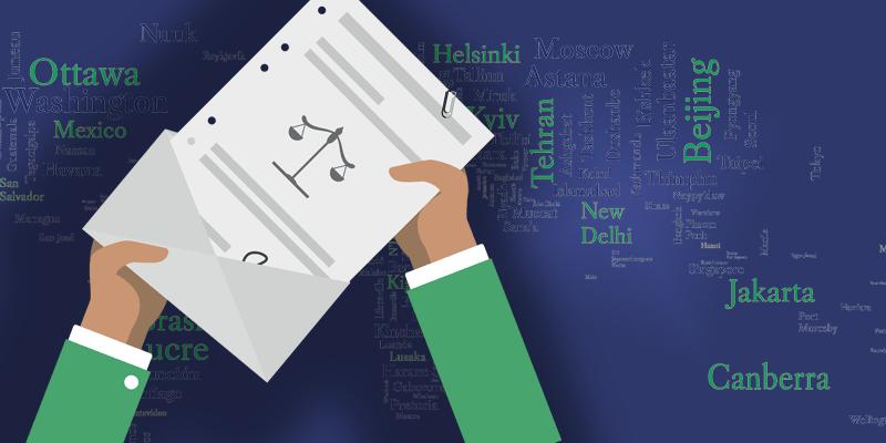 document juridique sortant d'une lettre