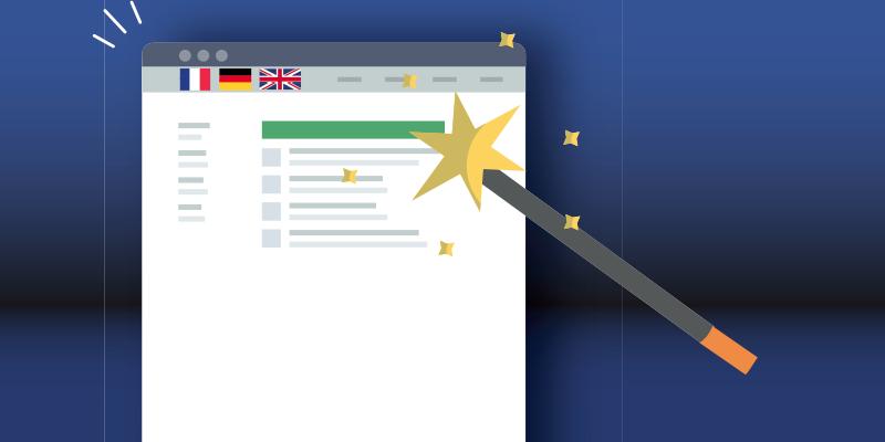 Baguette magique pour la refonte de site web en plusieurs langues